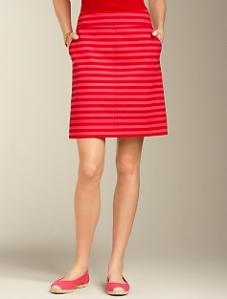 Talbots Tonal-Stripe Skirt